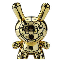"Bad - Gold 8"" Dunny by David Flores (signed by artist)"