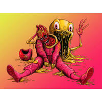 The Astronaut 8x10 print by Alex Pardee