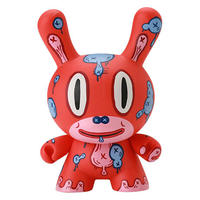 """MOD - Red 8"""" Dunny by Gary Baseman"""