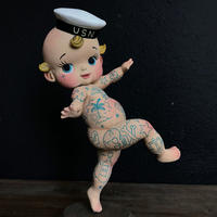 Kewpie Sailor art toy sculpture by Quyen Dinh