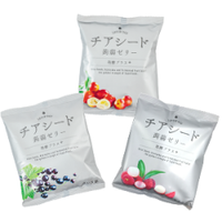<<定期便は10%off>> チアシード蒟蒻ゼリー発酵プラス12袋セット (カシス4袋、カムカム4袋、ライチ4袋)