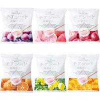 <<定期便>>6種入り各2袋 (ぶどう、もも、りんご 、レモン、みかん、マンゴー各2袋)