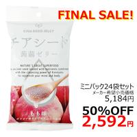 【ケース販売】チアシード蒟蒻ゼリーミニパック(6個入り×24袋) もも味