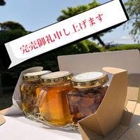 山麓はっちのお中元・日本みつばち菊鹿・ナッツ漬け2種