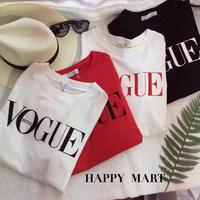 (即納♡)(レディ―ス)VOGUEロゴTシャツ  [ホワイト×ブラック]