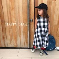 (即納♡)(kids☆)ブロックチェック柄マキシワンピース