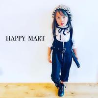 (即納♡)(kids☆)フロントジップハイウエストサロペット
