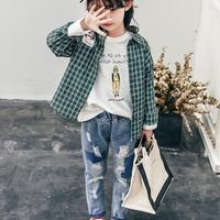 (即納)秋新作★KIDS パッチワークダメージデニム③