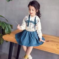 (即納♡)(kids☆)アルファベットパーカ+スカート2点SET