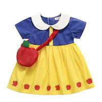 (即納♡)(kids☆ まる襟♡白雪姫ワンピース+リンゴBAG付