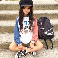 (即納♡)(kids☆)アルファベットロゴパーカーワンピ(ピンク)