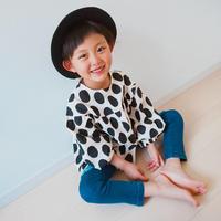 (即納♡)(kids☆)ドット柄ブラックトップス