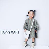 (即納♡)(kids☆)くすみグリーンストライプワンピース