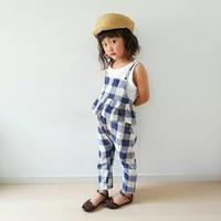 (即納♡)(kids☆ ギンガムチェックサロペット
