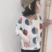 (即納♡)(kids)木の葉デザインTシャツ (ホワイト)