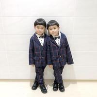 (即納♡)(kids☆)チェック柄スーツ2点セット