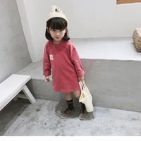(即納♡)(kids☆)シンプルTシャツワンピース(ピンク)