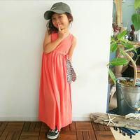 (即納♡)(kids☆)ピンクロングマキシワンピ -ス