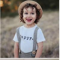 (即納♡)(kids☆)シンプルhappyロゴTシャツ