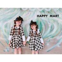 (即納♡)(kids)襟つきギンガムワンピース