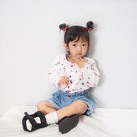 (即納♡)(kids☆)襟フリルチェリー柄シャツ