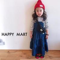 (即納♡)(kids☆ デニムサロペットワンピース