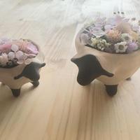 ちいさなお花のもりひつじの親子【受注制作】
