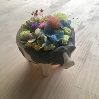 お花のもりのうし (こども うつわ)【受注制作】