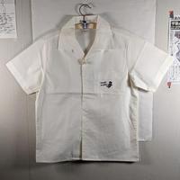 開襟ワークシャツ オフホワイト