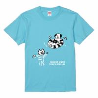 Tシャツ【SUMMER MUSIC】アクアブルー