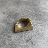 ゴールド斜めカットリング