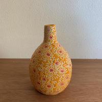 陶器 一輪挿し オレンジ