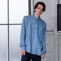 Loreak/リネン100%シャツ/ブルーMサイズ
