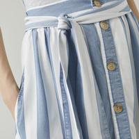 CLOSED/ストライプライトブルー /スカート