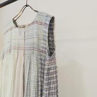 injiriノースリーブコットンシルクドレス/サイズ40(Lサイズ)