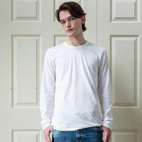 Men'sコットン100%/クルーネック/ホワイト