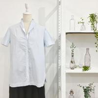 Lady'sコットンシャツ(ブルーストライプ)/HannohWessel/38