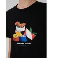 Loreak/Organic Cotton グラフィックプリントT-シャツ/ブラック