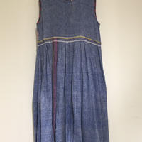 injiriオーガニックコットンインディゴドレス/38サイズ(M)
