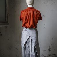 Lady'sコットンシャツ(オレンジ)/HannohWessel/40