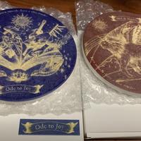 【SOLD OUT!】【コースター】「Sun & Moon + 歓びの歌」盤面デザイン 白雲石吸水コースター 2枚セット