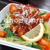 鶏肉の甘辛揚げ丼  6/17【はちぼし】