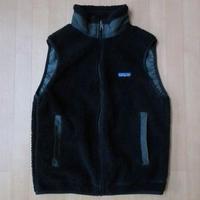 90's 1997年 USA製 パタゴニア レトロX ブラック フリース ベスト L 黒PATAGONIA Retro Vest Cardiganレトロカーディガン キャンプ【deg】