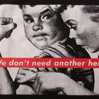 バーバラ クルーガーFOTOFOLIO We don't need another hero Tシャツ S Barbara KrugerフォトART芸術 現代美術 ボックスBOXロゴ【deg】