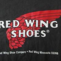 90's USA製 RED WING オールド ロゴ Tシャツ L ブラック REDWING レッドウィングanvil Irish Setterアイリッシュセッター【deg】
