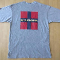 90's TOMMY JEANS SAILING GEAR Tシャツ L 星条旗 HILFIGER USA トミーヒルフィガー トミージーンズ【deg】