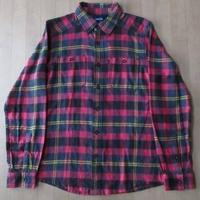 KAVU Big Joe Shirt チェック柄 長袖 ネルシャツ S ワーク WORK 【deg】