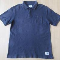 STUSSY クラウン 刺繍 半袖 ポロシャツ ステューシー XL 黒 カットソーTシャツ【deg】