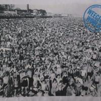90's ウィージー FOTOFOLIO コニーアイランド フォト Tシャツ XL 白Weegee Coney Island Shawn Stussy BeachビーチART【deg】