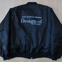 90's 非売品 ジャネット ジャクソン Design of a Decade 1986-1996 MA-1 ジャケット LL黒 ブラックXLプロモJanet Jackson【deg】